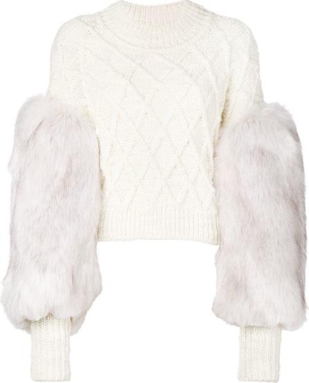 Philosophy Di Lorenzo Serafini Faux fur sleeved jumper