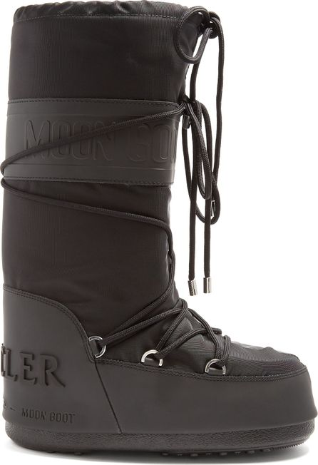 Moncler X Moon Boot® leather-trimmed aprés-ski boots