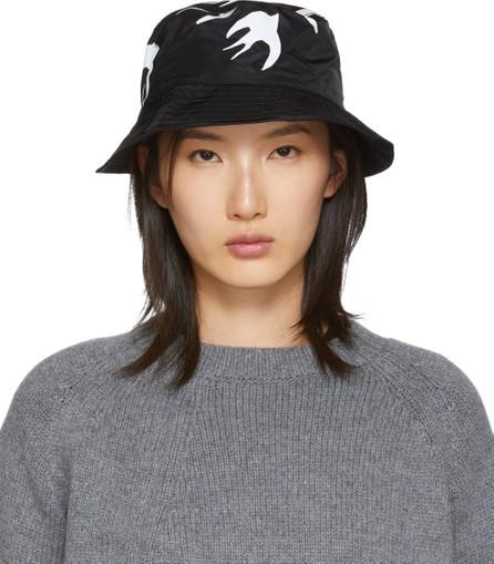 McQ - Alexander McQueen Black Swallow Bucket Hat