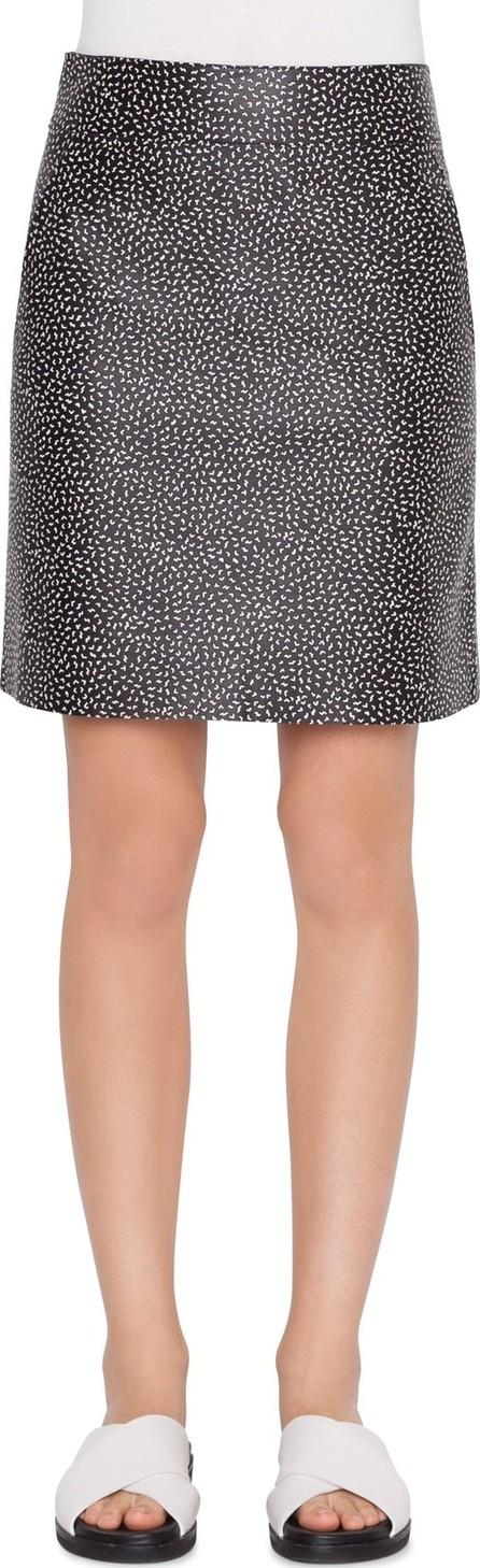 Akris Punto Memphis Pastina Print Leather Miniskirt