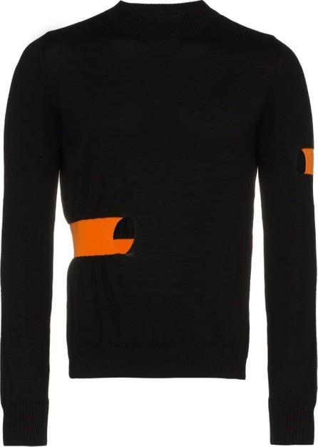 Helen Lawrence Fine gauge knit merino elastic panel sweater