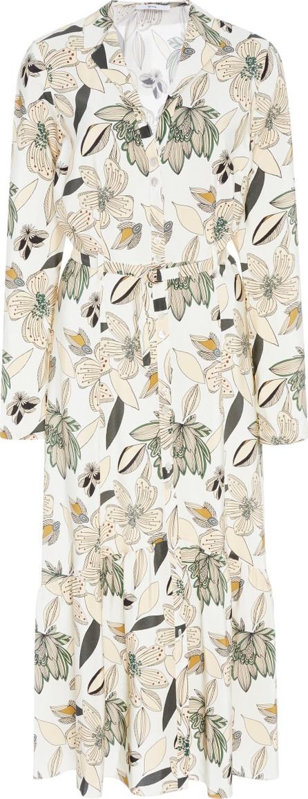 Becken Ruffled Floral Silk Midi Dress