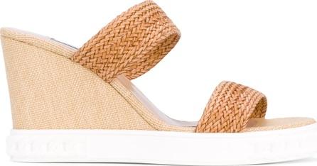 Casadei strap wedge sandals