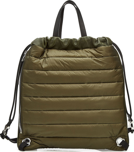 Moncler New Kinly Drawstring Backpack with Leather