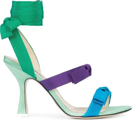Attico Bow Strap Heel Sandals