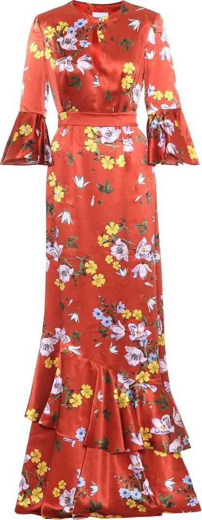 Erdem Venice floral-printed silk dress