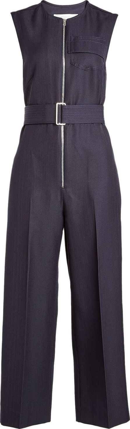 Victoria Beckham Cropped Jumpsuit with Virgin Wool