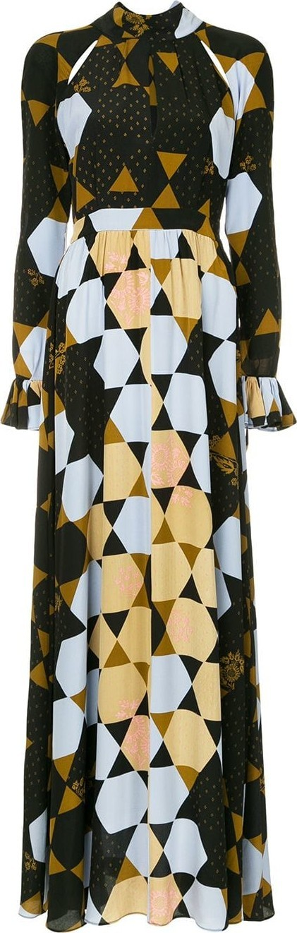 Stine Goya Hexagon print maxi dress