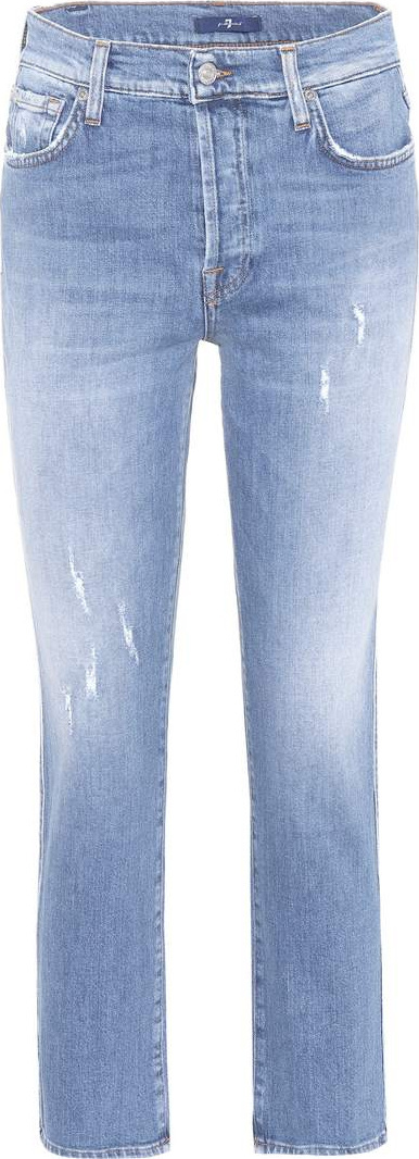 7 For All Mankind Edie high-waisted straight-leg jeans