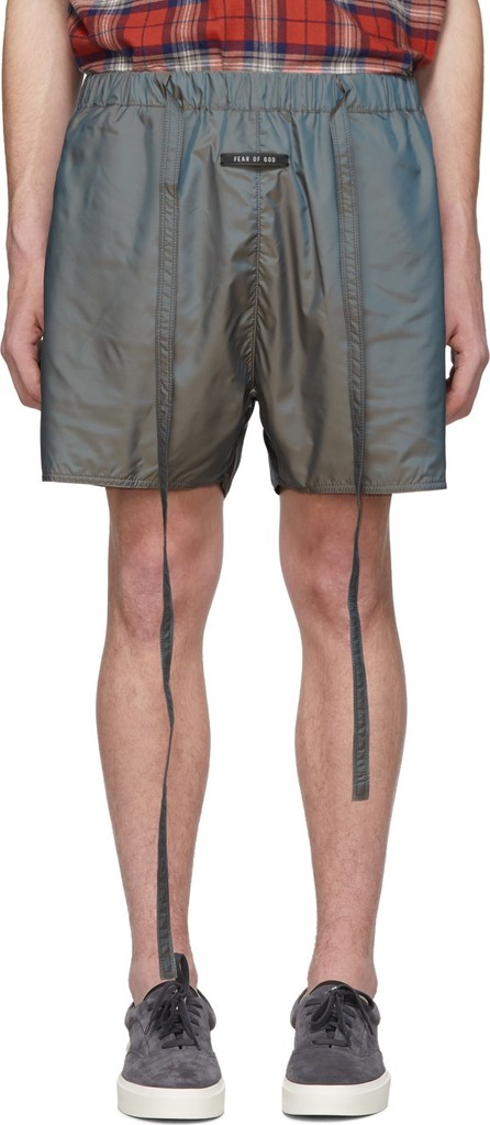 Fear of God Grey Iridescent Military Shorts