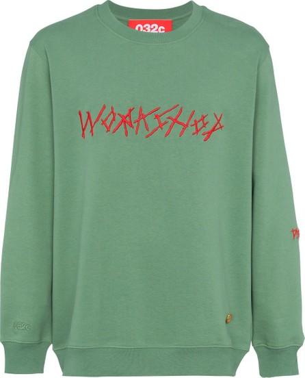032c Green embroidered sweatshirt