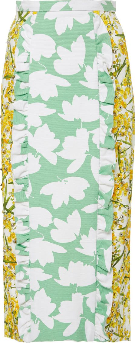 Nina Tiari Floral Ruffle Midi