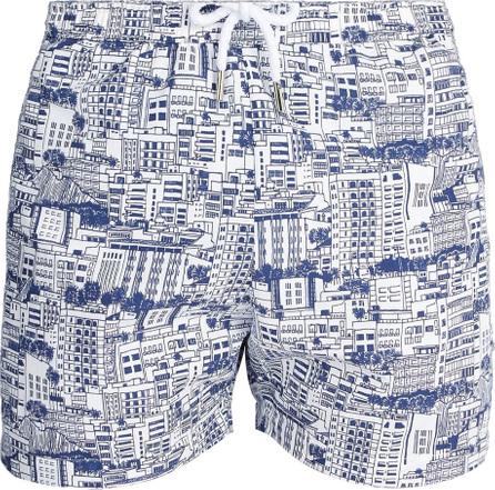 Frescobol Carioca Sports Predios-print swim shorts
