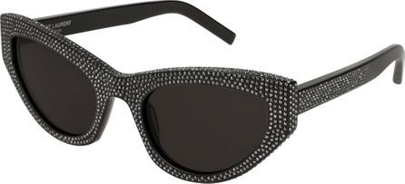 Saint Laurent Grace Studded Cat-Eye Sunglasses