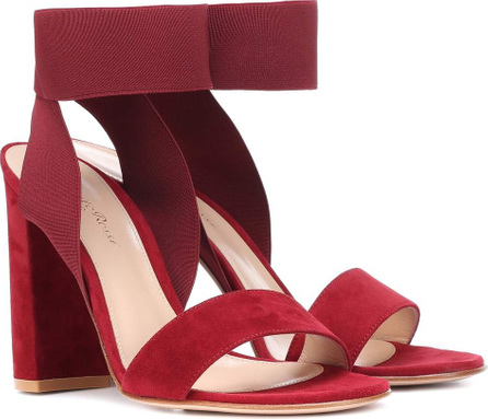 Gianvito Rossi Elastic-strap suede sandals