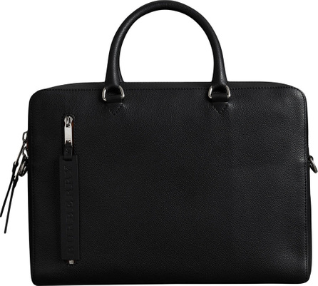 Burberry London England Grainy Leather Briefcase