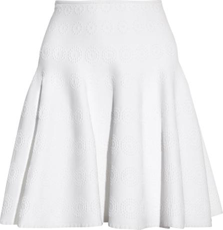 Alaïa Fluted jacquard-knit mini skirt
