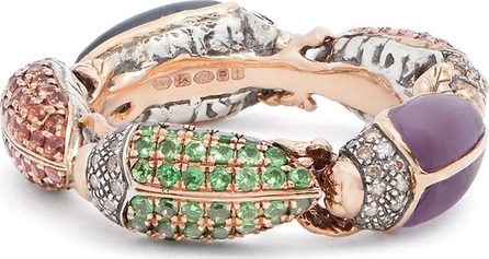 Bibi Van Der Velden Scarab rose-gold eternity ring