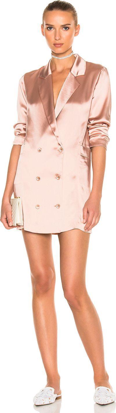 Fleur Du Mal Double Breasted Short Dress