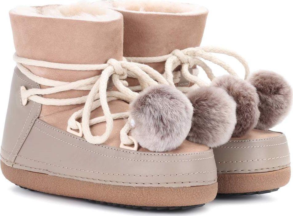 INUIKII - Classic Pompom fur-lined boots