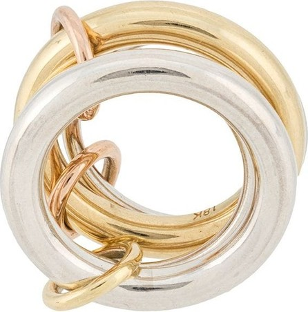 Spinelli Kilcollin 18kt yellow gold and sterling silver Cici 4 linked rings