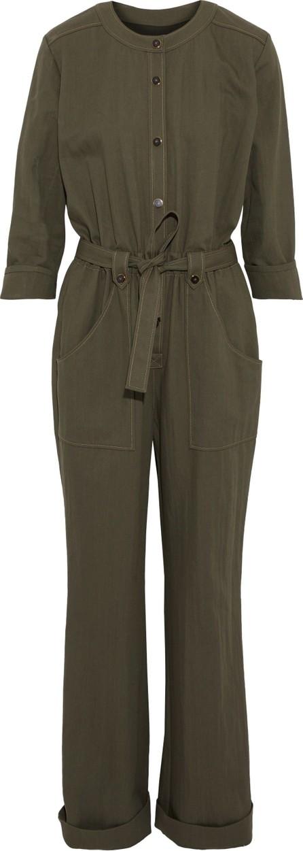 Vanessa Seward Farell tie-front twill jumpsuit