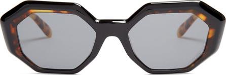 GARRETT LEIGHT Jacqueline 50 octagon-frame sunglasses