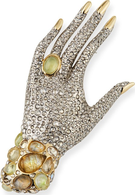 Alexis Bittar Crystal Encrusted Hand Pin