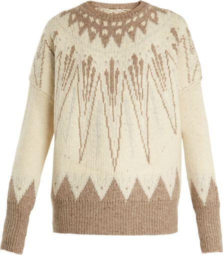 Adam Lippes Geometric-intarsia wool-bend sweater