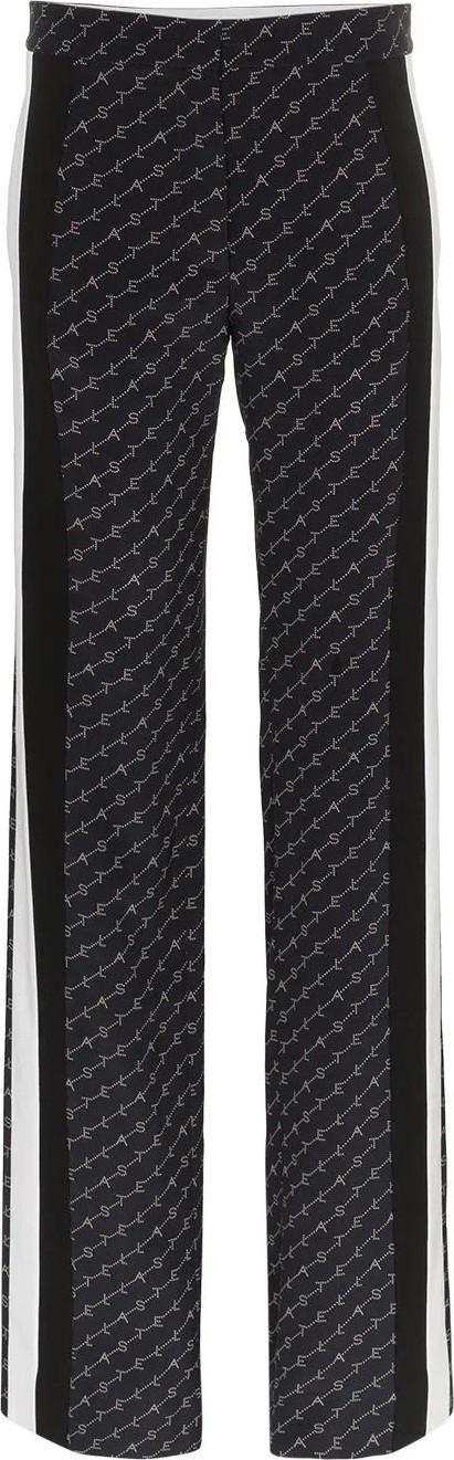Stella McCartney Dana silk monogram pants
