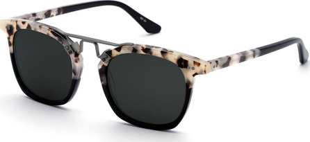 KREWE Lafayette Rectangle Acetate & Metal Sunglasses