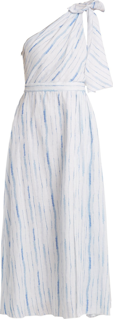 Gül Hürgel One-shoulder striped linen dress