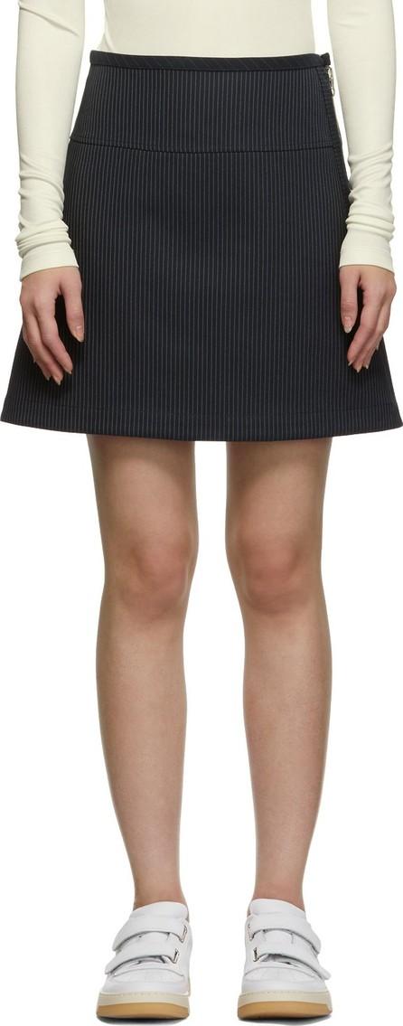 A.P.C. Navy Wright Miniskirt