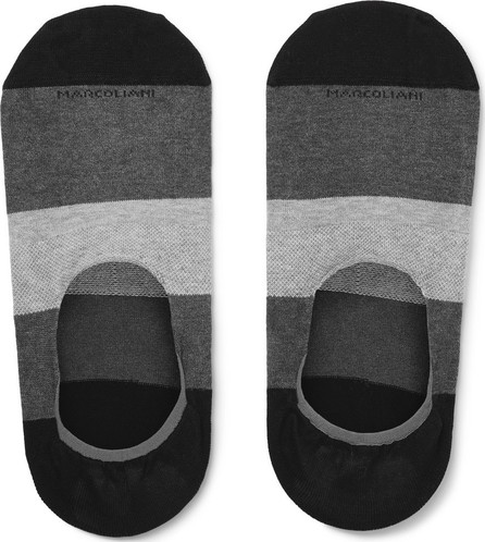 Marcoliani Invisible Touch Striped Stretch Pima Cotton-Blend No-Show Socks