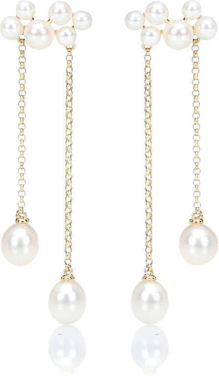 Anissa Kermiche Wuthering Heights 14kt gold and pearl earrings