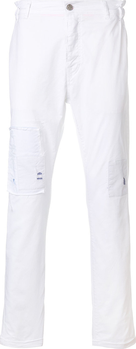Frankie Morello Patch detail slim fit trousers