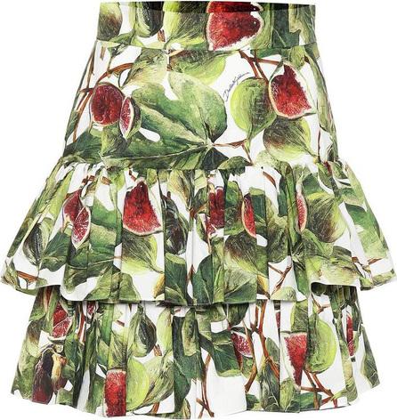Dolce & Gabbana Fig cotton poplin miniskirt