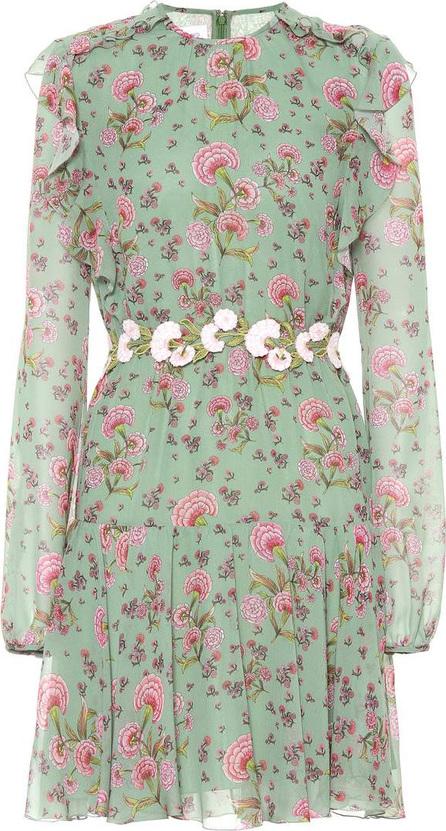 Giambattista Valli Floral-printed silk minidress