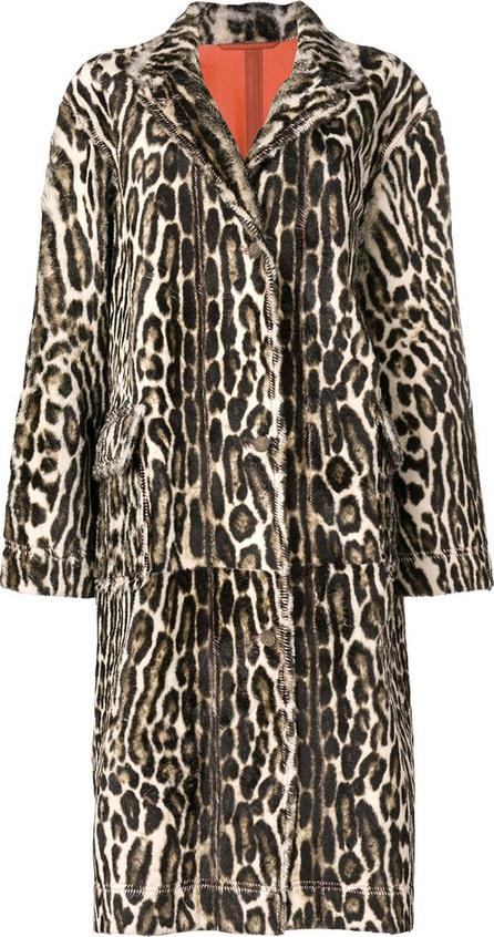 Calvin Klein 205W39NYC Long leopard print coat