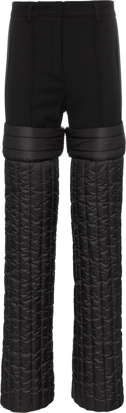 Colmar A.G.E. By Shayne Oliver High Waisted Padded Wool Trousers
