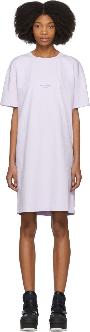 Acne Studios Purple Joupa T-Shirt Dress