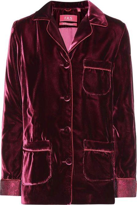 For Restless Sleepers Rea velvet shirt
