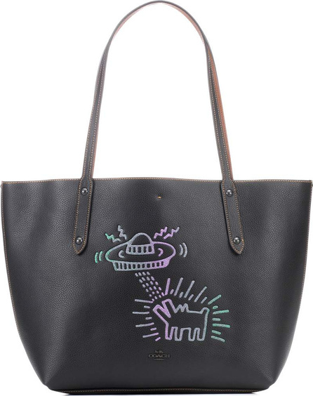 COACH X Keith Haring embellished leather tote