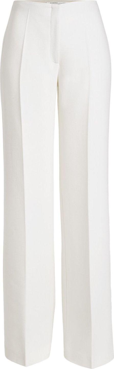 Agnona Wool Wide-Leg Trousers