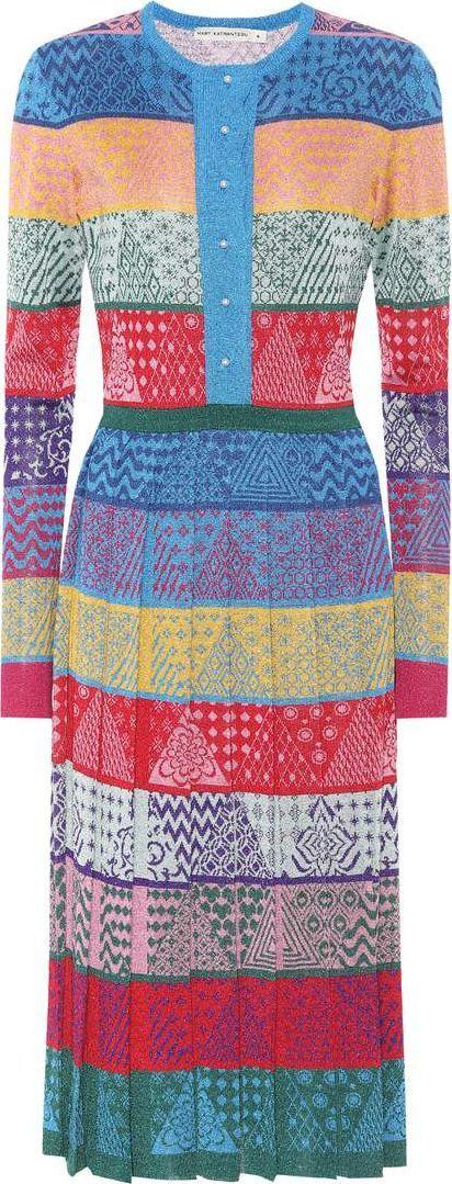 Mary Katrantzou Cecile jacquard knit dress
