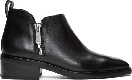 3.1 Phillip Lim Black Alexa Ankle Boots