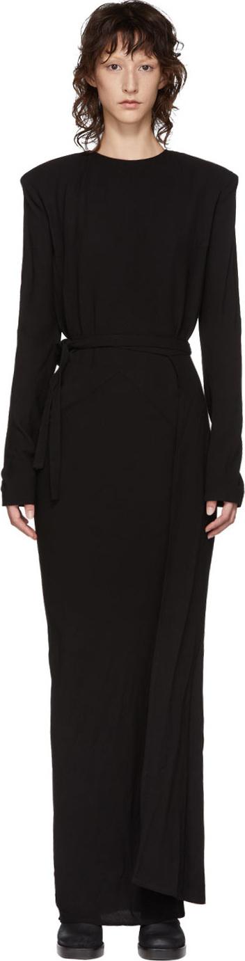 Haider Ackermann Black String Long Dress