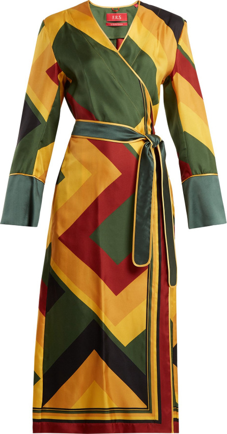F.R.S For Restless Sleepers Dolos colour-block silk wrap-dress