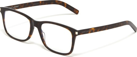 Saint Laurent Tortoiseshell acetate square optical glasses