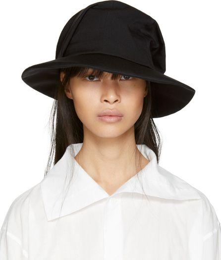 Y's By Yohji Yamamoto Black Fold Hat
